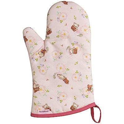 懶妹蜂蜜小熊的粉彩花園系列隔熱手套。粉紅 San-X