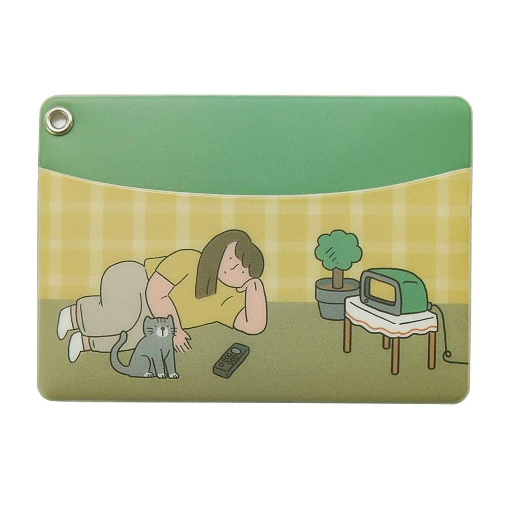 Indigo 女子日常插畫票卡夾 - 05宅女與貓