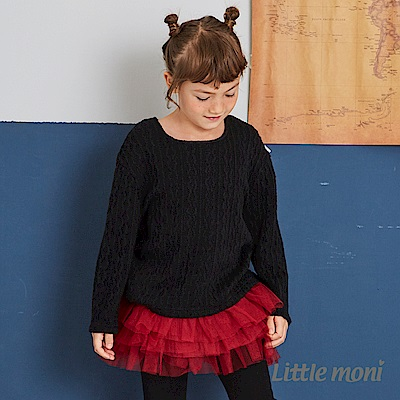 Little moni 針織麻花上衣(兩色可選)