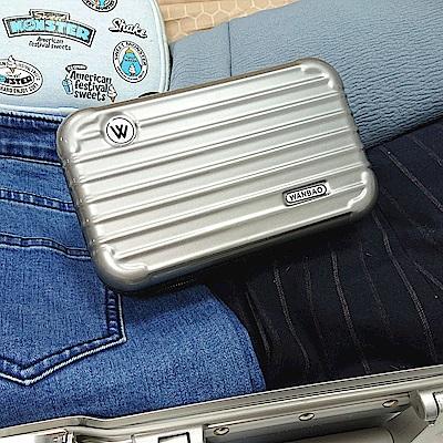 樂嫚妮 過夜包/航空包/防塵收納包/仿行李箱造型-銀