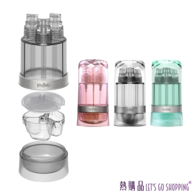 LGS 旅行款 3合1多功能噴瓶 防摔材質 可裝酒精 旅行收納瓶(1入)