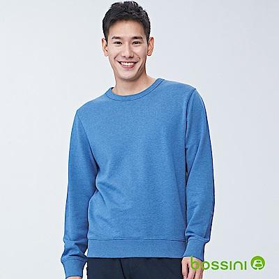 bossini男裝-圓領厚棉T恤01藍