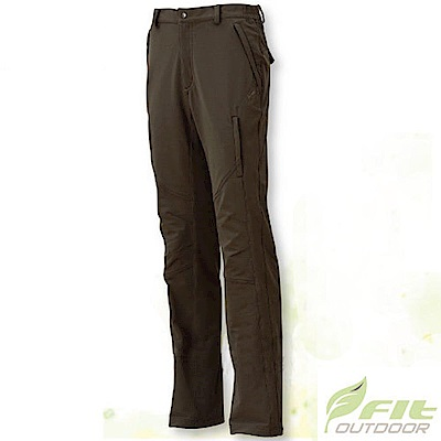 FIT 男 彈性吸排抗靜電保暖長褲_EW1802 沙棕色 V