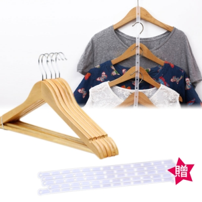 kiret 超值 加大 高級原木衣架手工衣架 10入組- 贈魔術 連接條