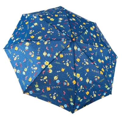 RAINSTORY怪獸PARTY(藍)抗UV隨身自動傘