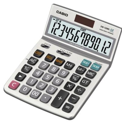 CASIO 12位元 可摺式面板桌上型計算機DW-120MS