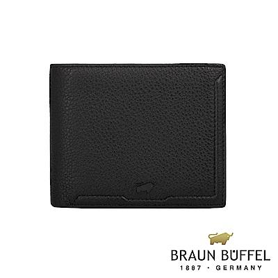 BRAUN BUFFEL 德國小金牛 - 吉米系列5卡透明窗皮夾 - 黑