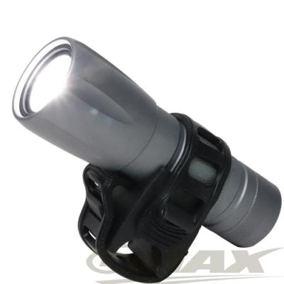 omax沖繩星野超亮5W伸縮調焦變光自行車燈-B22-快