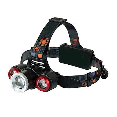 KINYO LED高亮度三頭變焦頭燈