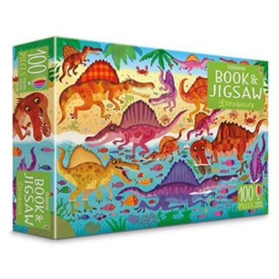 Dinosaurs Puzzle Book And Jigsaw 恐龍拼圖遊戲盒