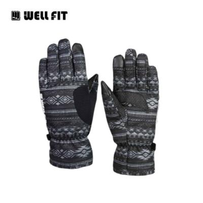 WellFit Kevlar防水通勤手套【黑底圖騰】(登山、旅遊、保暖、機車)