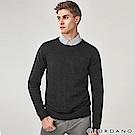 GIORDANO 男裝基本款簡約素色針織衫-09 標誌黑