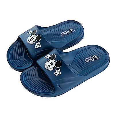 迪士尼童鞋 米奇 復古防水拖鞋-藍
