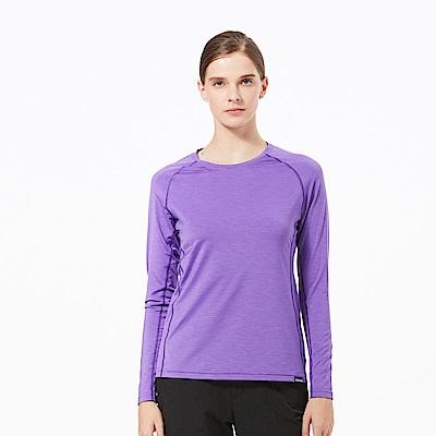 【HAKERS 哈克士】女 抗UV快乾長袖圓領衫-紫色