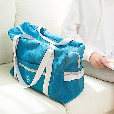 E.City_ 韓版高品質加厚防潑水折疊拉桿收納萬用袋