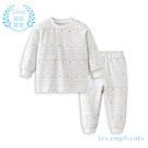 les enphants 匹馬棉系列半高領套裝(白色)