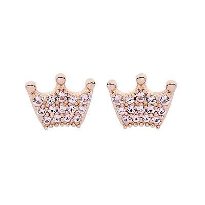 Pandora 潘朵拉 玫瑰金魔法皇冠鑲鋯 純銀耳環