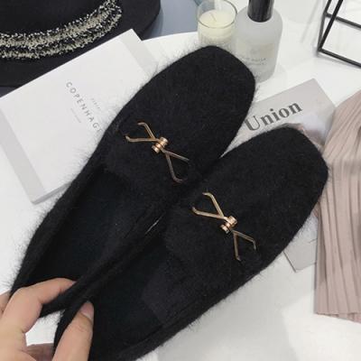 KEITH-WILL時尚鞋館 韓式名媛金屬飾品平底鞋 黑