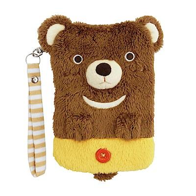 動物樂園毛絨手機提袋 小棕熊 UNIQUE