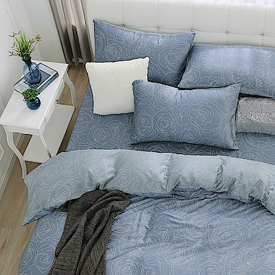 鴻宇 雙人特大床包薄被套組 天絲 萊塞爾 山茶花 台灣製