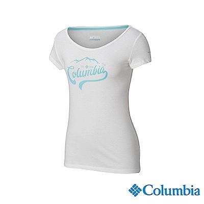 Columbia 哥倫比亞 女款-印花T-Shirt - 白色 UAL12730WT
