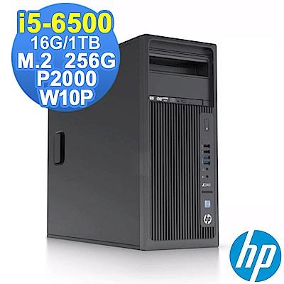 HP Z240 TWR i5-6500/16G/1TB+256G/P2000/W10P