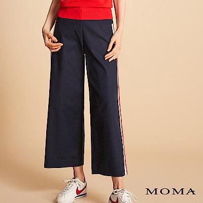MOMA 側邊織帶寬口褲