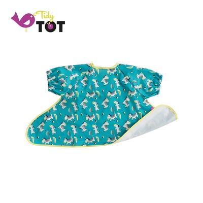 英國 Tidy TOT 防水短袖圍兜 - 可愛斑馬