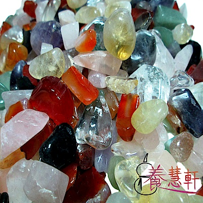 養慧軒 天然五行水晶碎石(粗)_1000公克