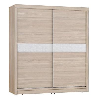品家居 夏比特7尺橡木紋推門衣櫃-210x61x198cm-免組