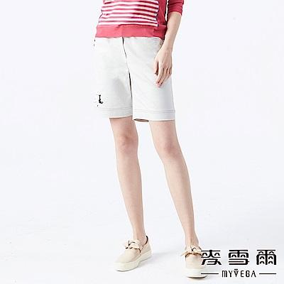 【麥雪爾】棉質童趣小貓彈性腰身短褲