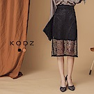 東京著衣-KODZ 韓國姐姐系側開叉包臀蕾絲裙-S.M.L(共二色)