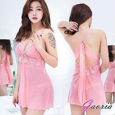 【Gaoria】甜香誘惑 輕透深V 性感情趣睡衣