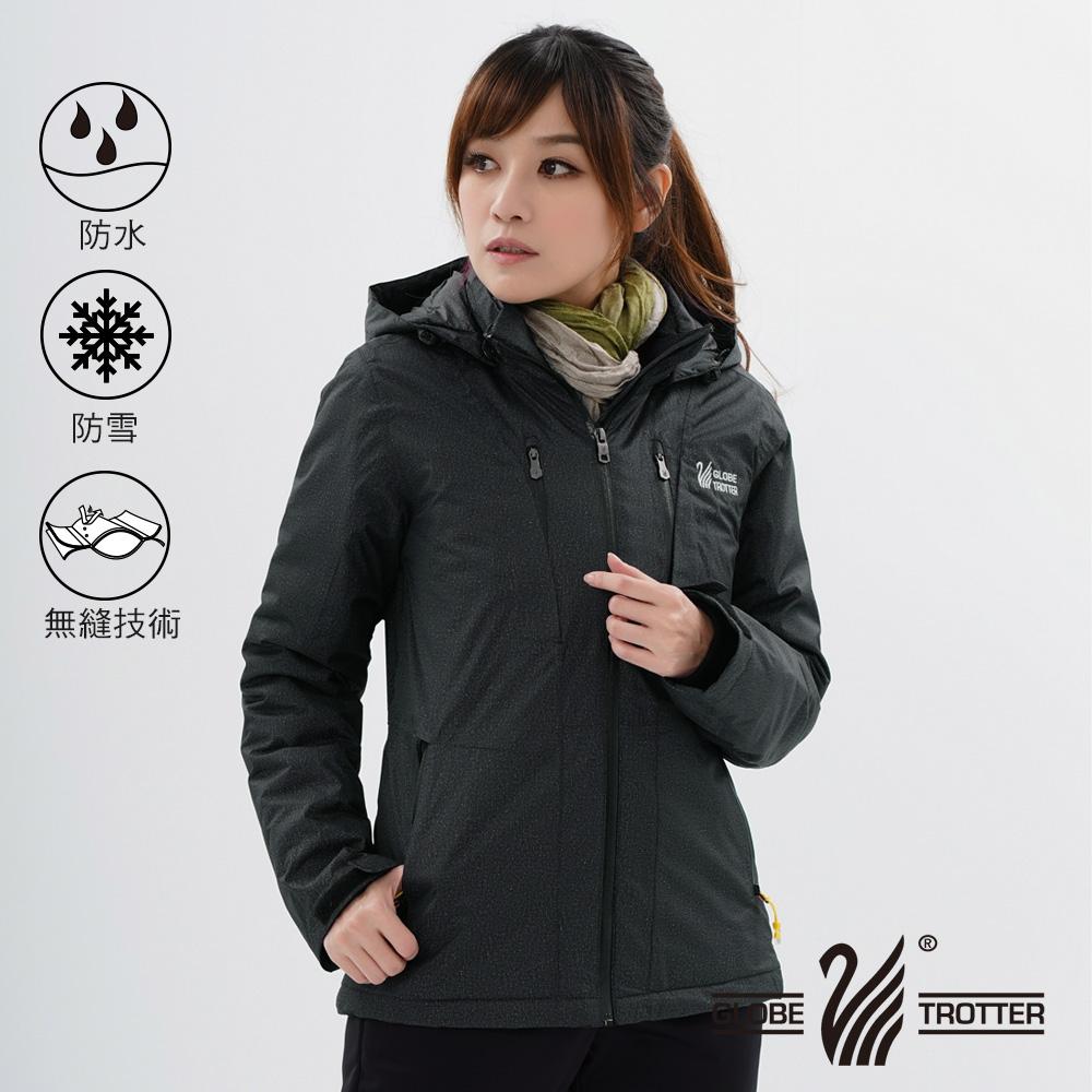 【遊遍天下】女款GlobeTex防水防風透濕保暖無車縫羽絨機能外套GJ22009黑灰