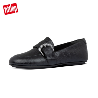 FitFlop LISBET LOAFERS復古扣環樂福鞋-女(靓黑色)