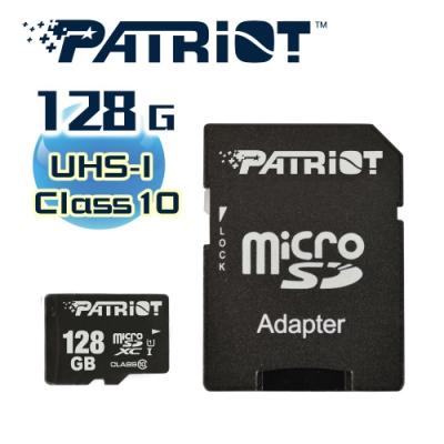 Patriot美商博帝 C10 MicroSD UHS-I 128GB記憶卡 (PSF128GMDC10)