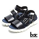 bac 台灣品質 舒適大底真皮涼鞋-黑