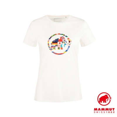 【Mammut 長毛象】Nations T-Shirt Men 世界LOGO短袖上衣 女款 純白 #1017-02230