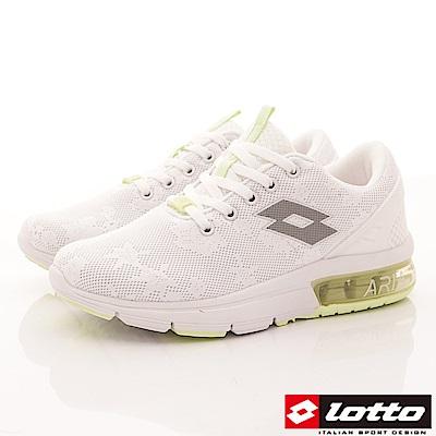 Lotto樂得-編織緩震氣墊鞋 SI629白(女段)
