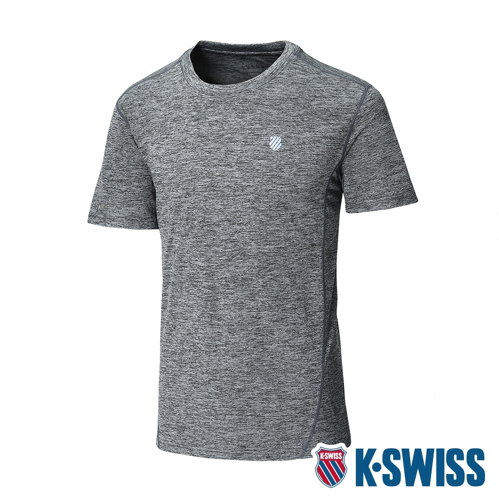 K-SWISS Small Neon Logo Tee排汗T恤-男-灰