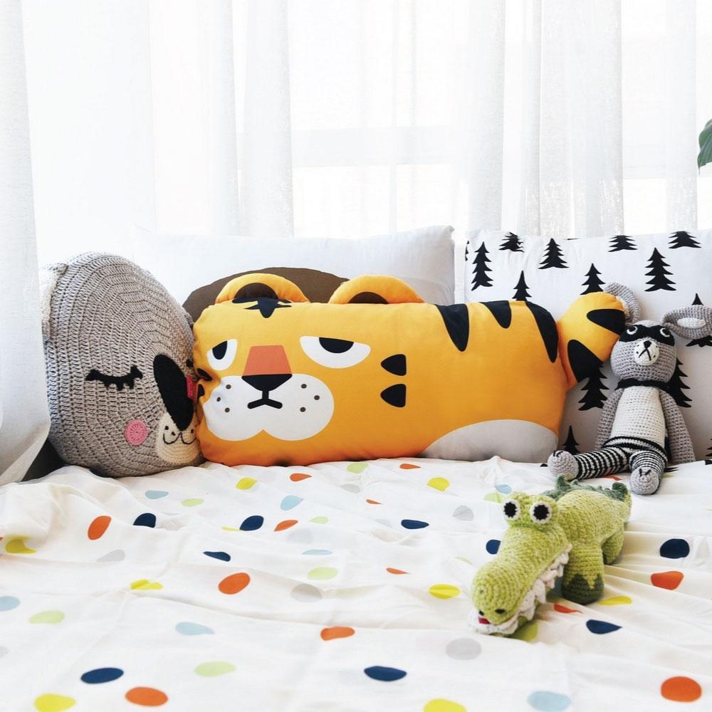 韓國【Monster Park】 小怪獸單人造型枕(小萌虎)