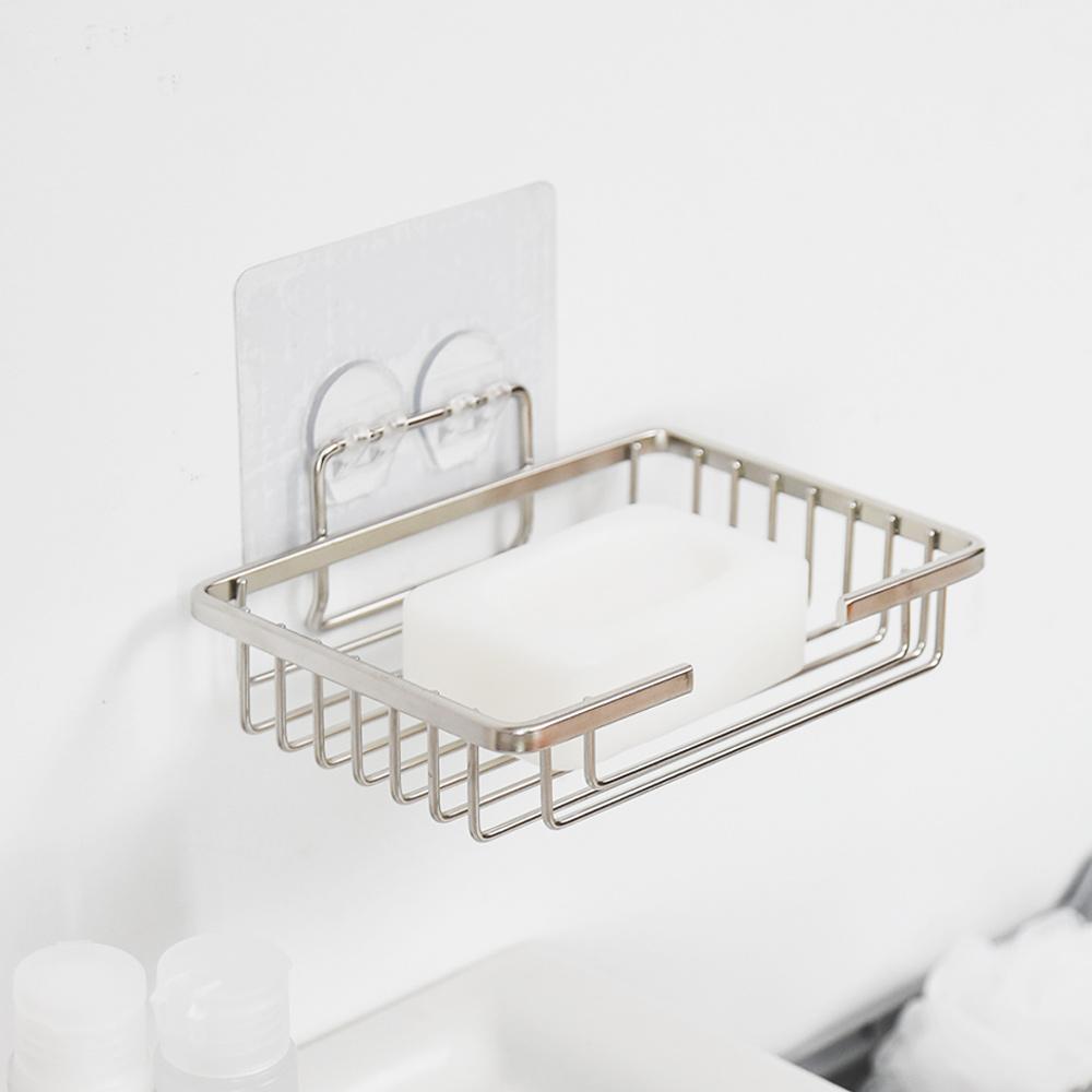 完美主義 肥皂架/置物架/304不鏽鋼/霧面無痕貼