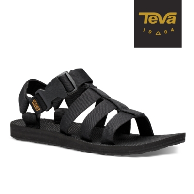 【TEVA】原廠貨 男 Original Dorado 角鬥士輕量快扣織帶涼鞋/雨鞋/水鞋(黑色-TV1110640BLK)