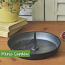 【Meric Garden】手工鐵製蚊香盤/薰香盤/小物收納盤黑色款(貓咪尾巴)