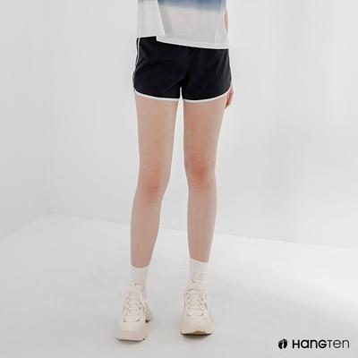 Hang Ten-女裝-REGULAR FIT鬆緊腰頭漸層設計短褲-黑