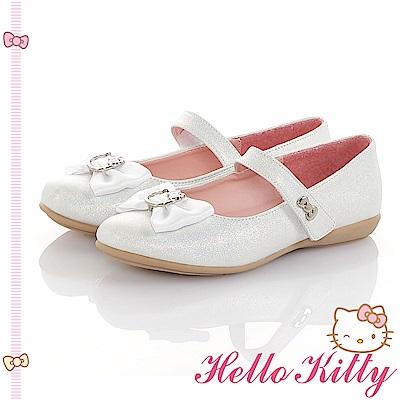 HelloKitty童鞋 傳統手工鞋蝴蝶結減壓包鞋-白
