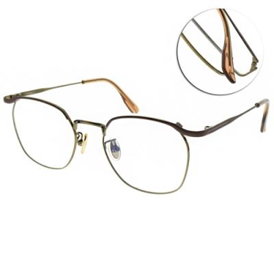 NINE ACCORD 光學眼鏡 設計圓框款 /霧棕-金 #PLACO ROUX C3