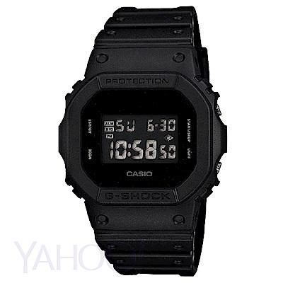 CASIO卡西歐 G-SHOCK 方形霧面感潮流休閒運動錶(DW-5600BB-1)