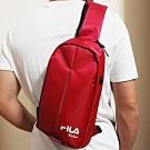FILA 時尚單肩斜包 斜背包 休閒旅遊-玫紅色