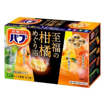 日本品牌 花王KAO 四合一至福柑橘泡澡碇 12碇
